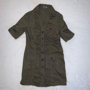 Poetry Gray-green Tunic Length Dress